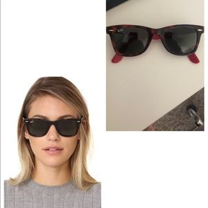 Ray-Ban Accessories - Red & Black Vintage Ray Ban Wayfarers